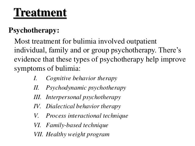 What Is The Treatment Bulimia