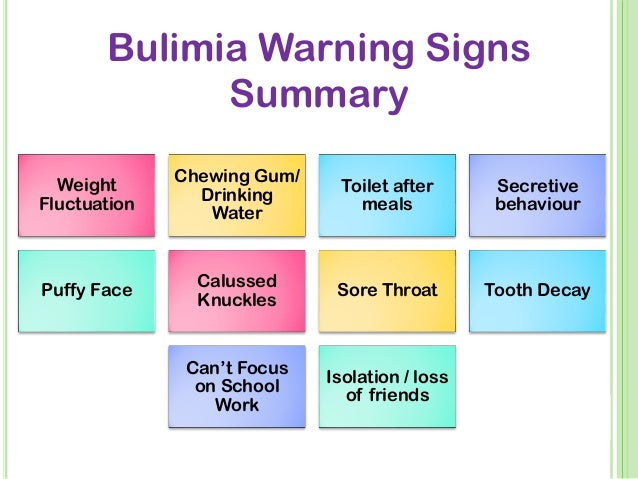 the negative effects of bulimia nervosa Objective: the effects of dialectical behavior therapy adapted for the treatment of binge/purge behaviors were examined method: thirty-one women (averaging at least.