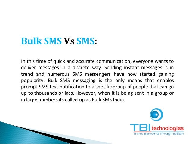 Bulk SMS Vs SMS: In this time of quick and accurate communication, everyone wants to deliver messages in a discrete way. S...