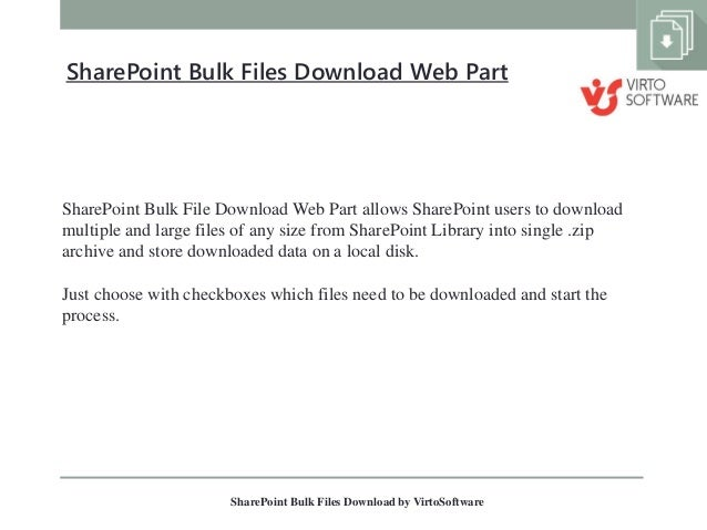 Usability showing single file download and multiple file.