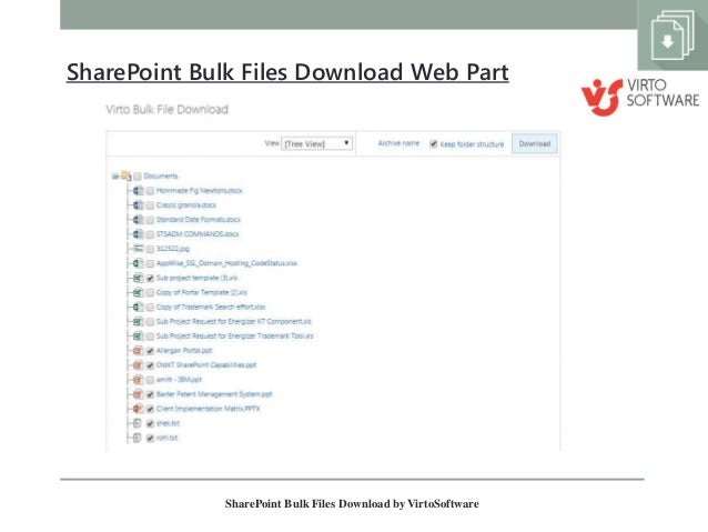 Download multiple documents.