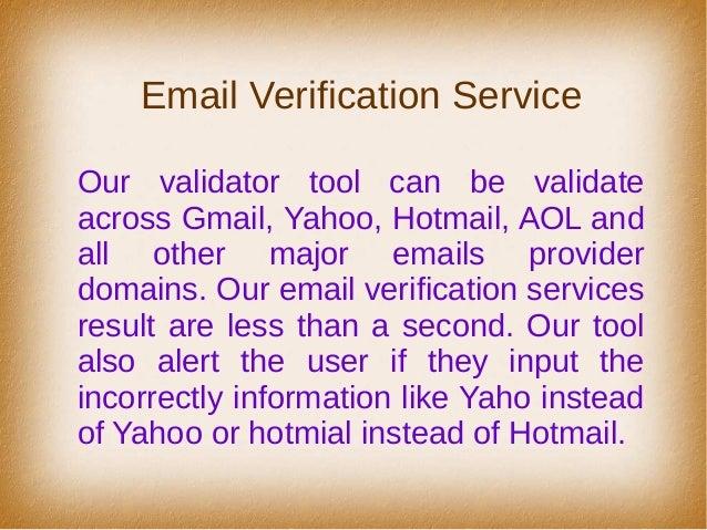 Mail list validator online dating 1