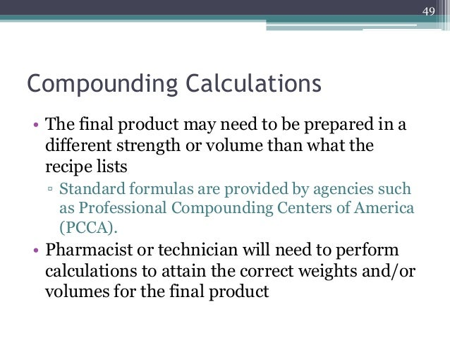 Chapter 11 Bulk Repackaging And Non Sterile Compounding