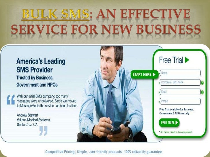 Bulk SMS: An Effective Service for New BusinessWhether you are engaged into a small business, a not for profitorganization...
