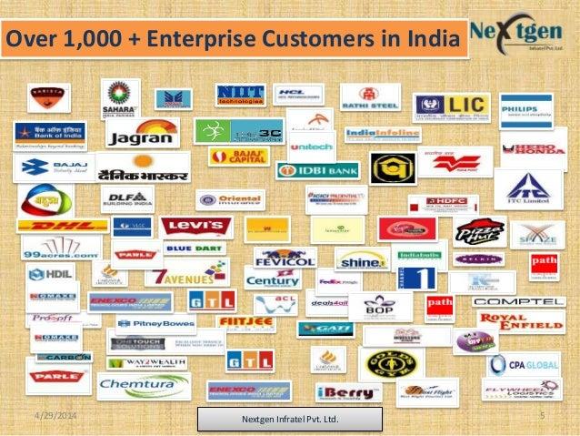 Over 1,000 + Enterprise Customers in India 4/29/2014 Nextgen Infratel Pvt. Ltd. 5