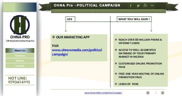 USE  OHNA PRO  WHAT YOU WILL GAIN !   OUR MARKETING APP  (OH Newmedia & Advertising Pro)  About Us Services Clients Conta...