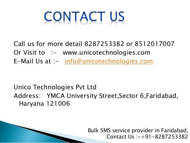 Call us for more detail 8287253382 or 8512017007 Or Visit to :- www.unicotechnologies.com E-Mail Us at :- info@unicotechno...