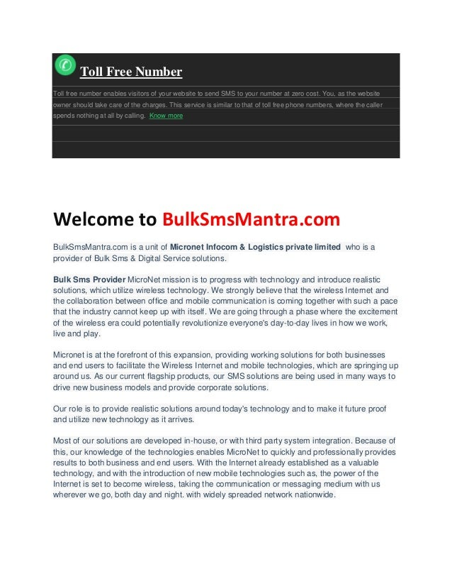 Bulk SMS / Promotional SMS / Transactional SMS
