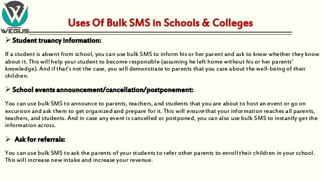 Bulk SMS Services in Education Industry