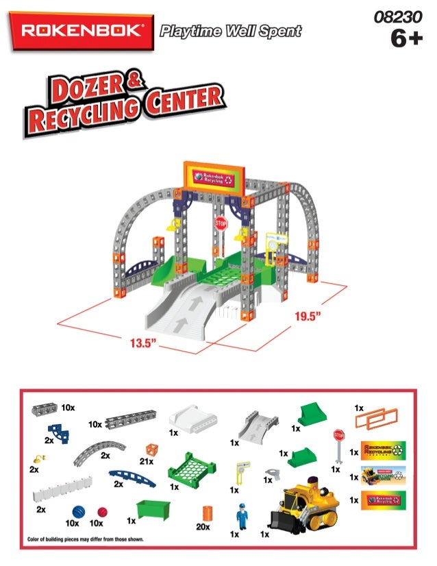 Remote Control Dozer with Recycling Center