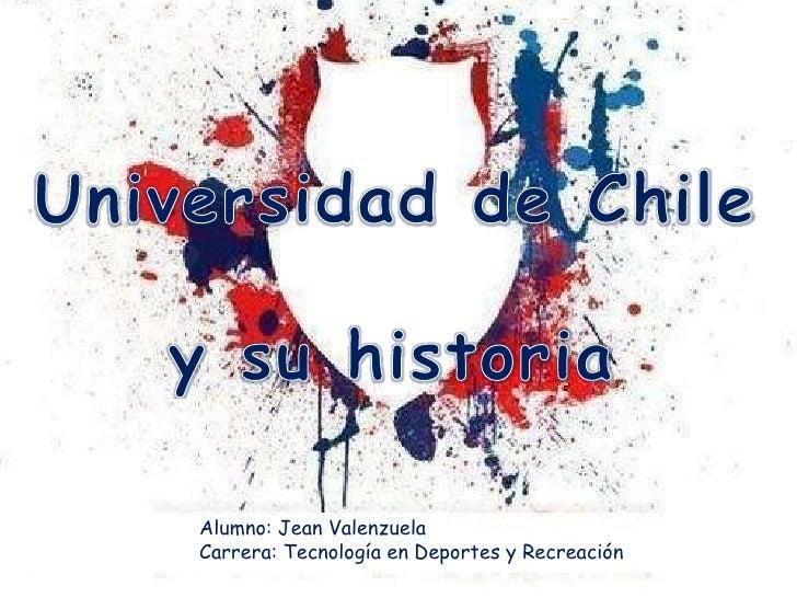 Alumno: Jean ValenzuelaCarrera: Tecnología en Deportes y Recreación