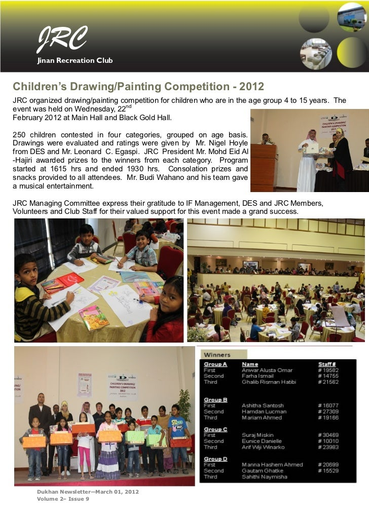 JRC       Jinan Recreation ClubChildren's Drawing/Painting Competition - 2012JRC organized drawing/painting competition fo...