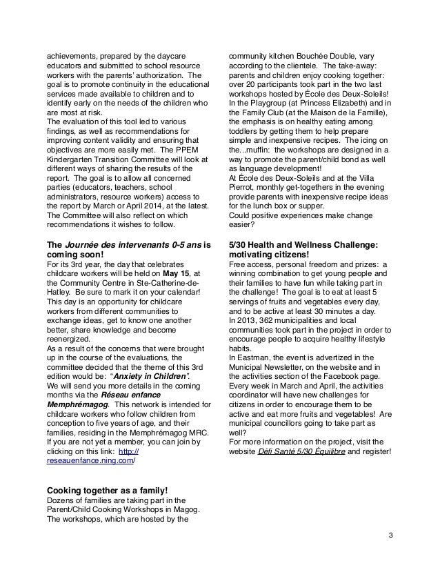 Newsletter MeM PPEM march 2014 - en Slide 3