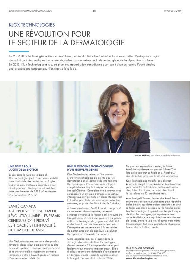 Bulletin d'information économique Laval - Hiver 2013-14 Slide 3