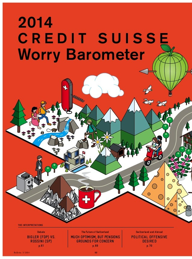 2014  C R E D I T SU I S S E  Worry Barometer  Debate  BIGLER (FDP) VS.  ROSSINI (SP)  p. 61  The Future of Switzerland  M...