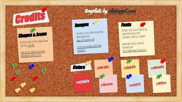 bulletin board presentation template