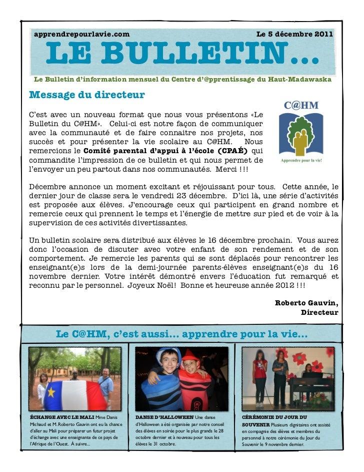apprendrepourlavie.com                                                                              Le 5 décembre 2011    ...