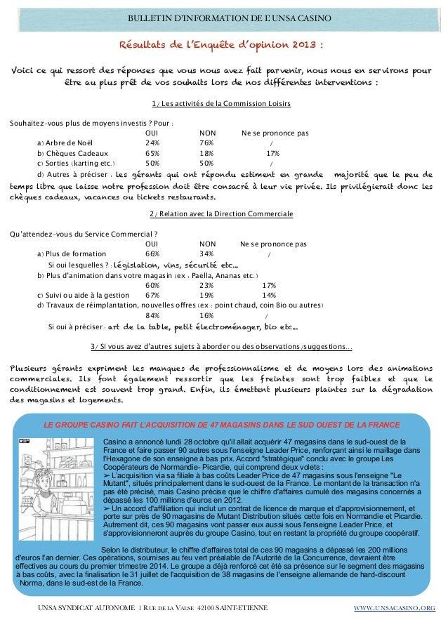 Bulletin infos gerants unsa 03 2013 11 Slide 3