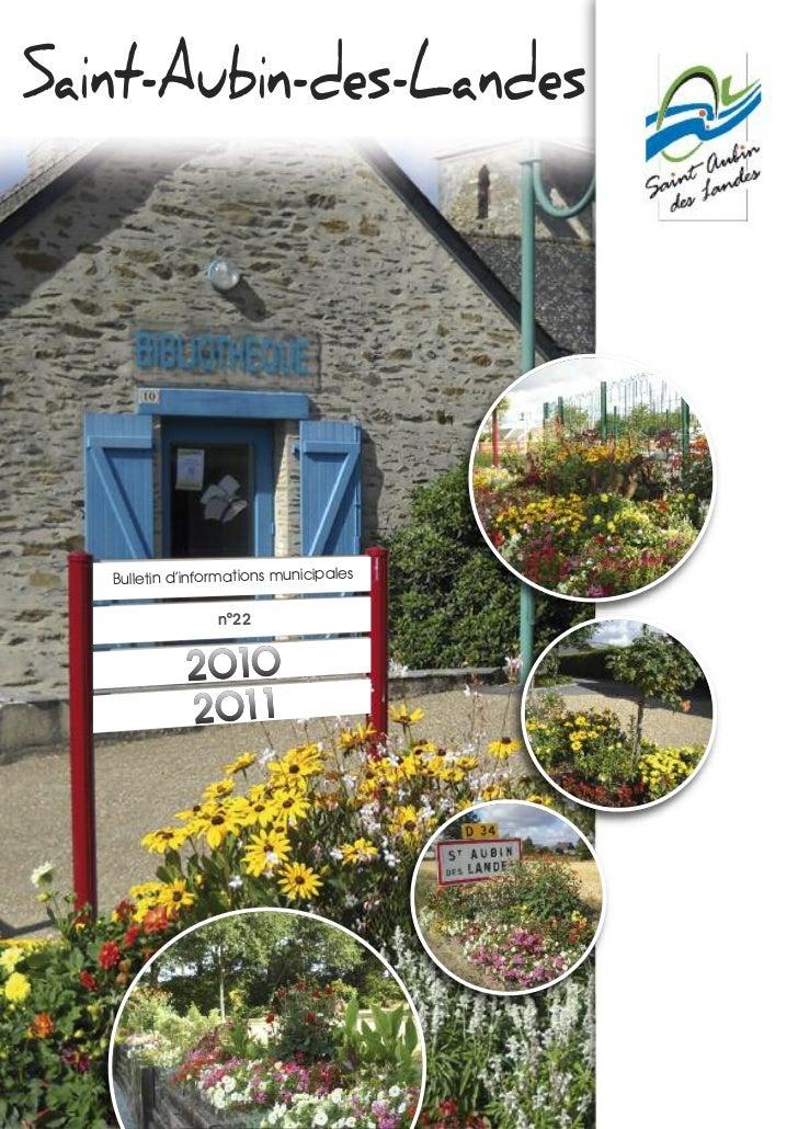 Saint-Aubin-des-Landes   Bulletin d'informations municipales                  n°22