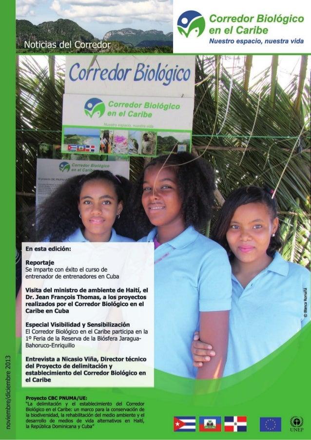 Bulletin novembre decembre 2013 corridor biologique dans la caraibe