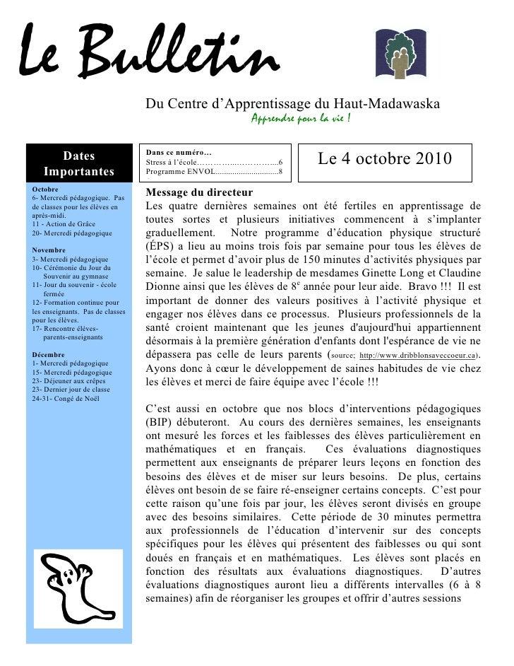Bulletin du CAHM d'octobre 2010