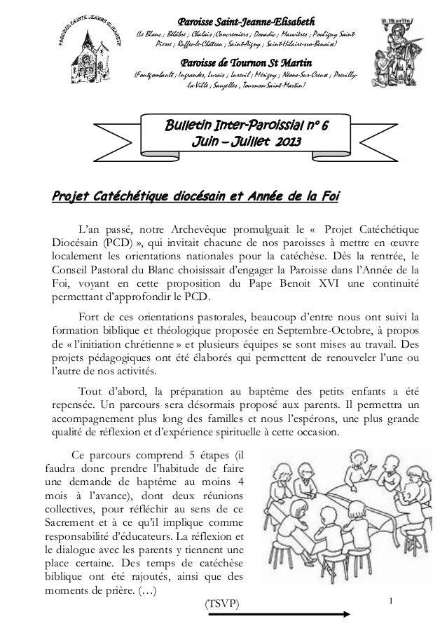 1Paroisse Saint-Jeanne-Elisabeth(Le Blanc ; Bélâbre ; Chalais ;Concremiers ; Douadic ; Mauvières ; Pouligny Saint-Pierre ;...
