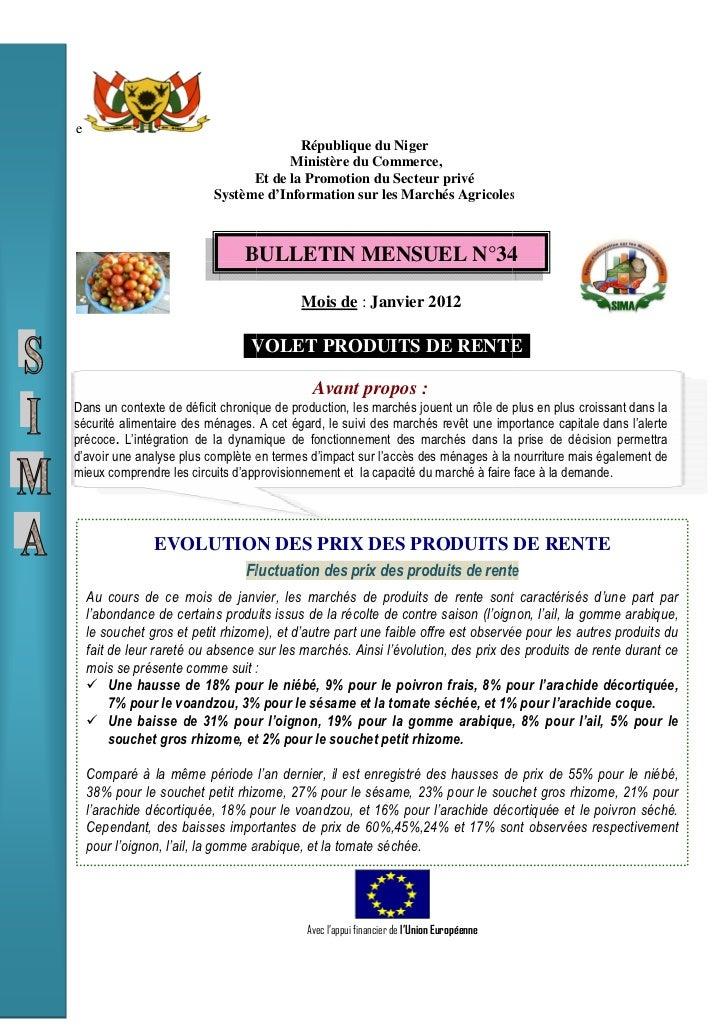 e                                         République du Niger                                       Ministère du Commerce,...