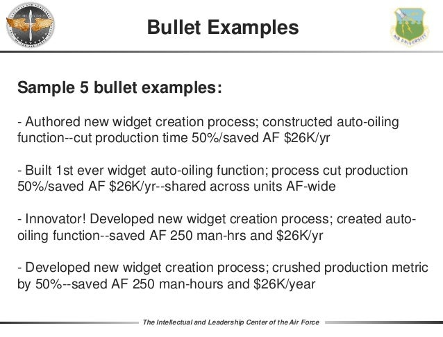 examples of epr bullets