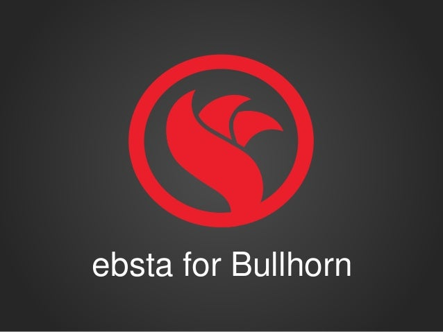 ebsta for Bullhorn