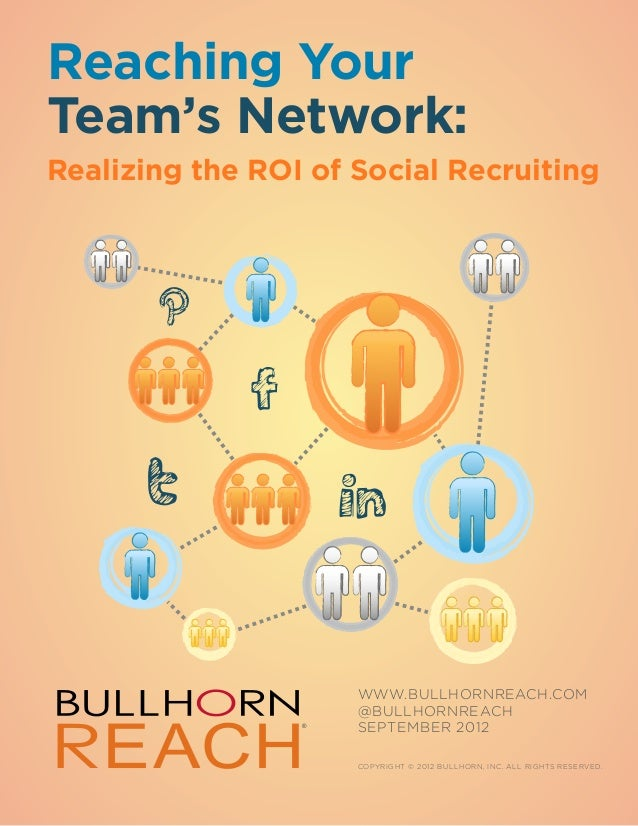 Reaching YourTeam's Network:Realizing the ROI of Social Recruiting                     WWW.BULLHORNreach.COM              ...