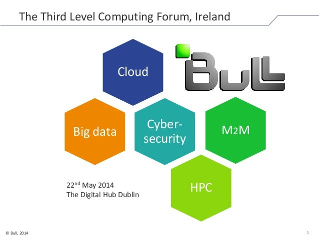 1© Bull, 2014 The Third Level Computing Forum, Ireland Cloud Cyber- security M2M HPC Big data 22nd May 2014 The Digital Hu...