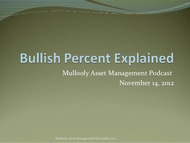Mullooly Asset Management Podcast                     November 14, 2012Mullooly Asset Management November 2012