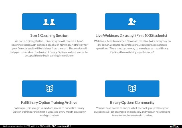 Binary option university