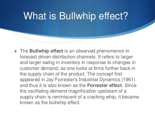 The Bullwhip Effect and the Beer Distribution Game