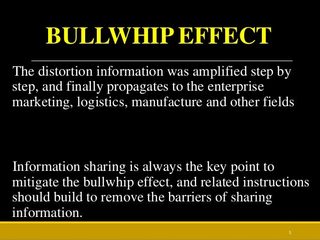 information sharing for the bullwhip effect Table 1 proposed causes and solutions of the bullwhip effect - information sharing as a coordination mechanism for reducing the bullwhip effect.
