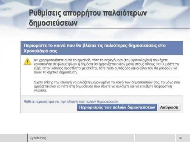 Αναφορά παραβίασης λογαριασμού στοFacebookCyberbullying                        39