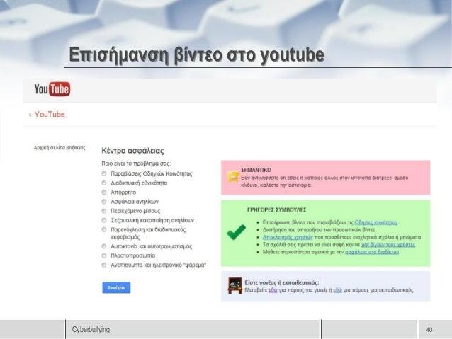 Επισήμανση βίντεοCyberbullying       41