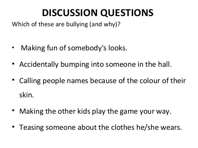 a discussion on the issue of cyber bullying Yet some types of student discussion will have little positive effect or may even increase rates of bullying  we can help students to think through the issues i .