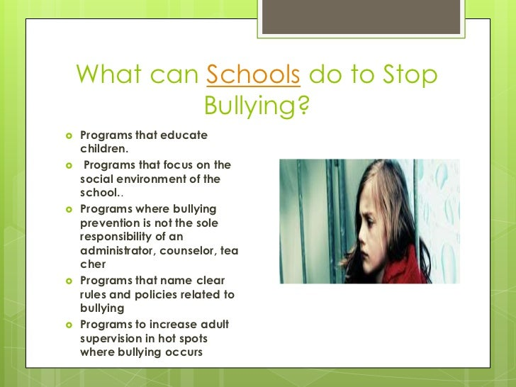 bullying in school essays Bullying in school and its effects to the students' essay sample thesis statement: bullying in schools is believed to be a normal part of school life, however, when people begin to have this mentality, they forget that bullying is physically and psychologically harmful to both the bully and the victim.
