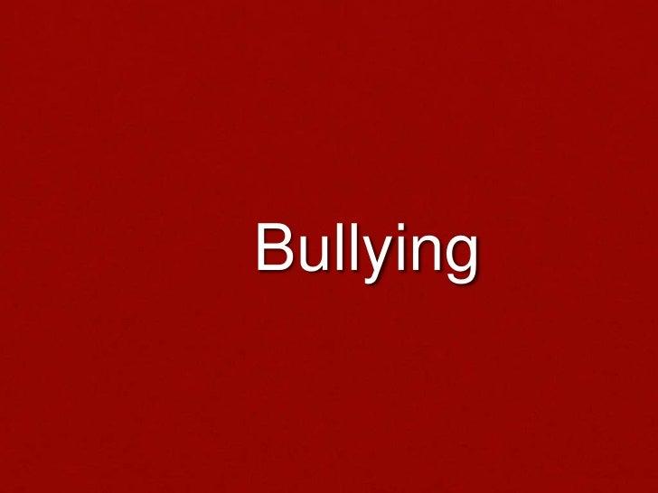 Bullying<br />