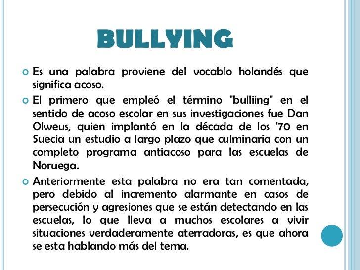 Bullying for De que lengua proviene la palabra jardin