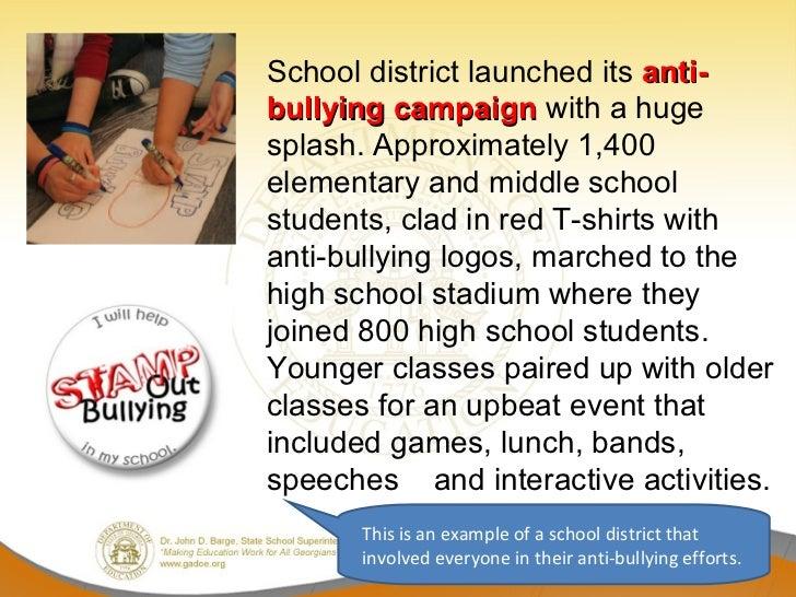 anti bullying campaign speech