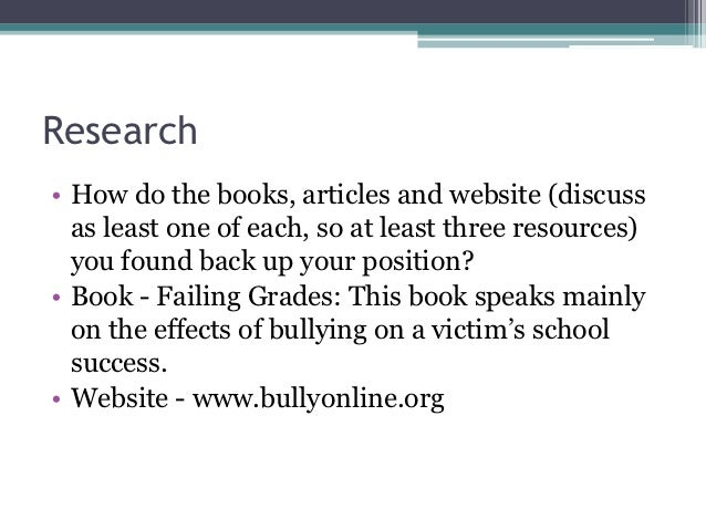 Effects of bullying on school achievement