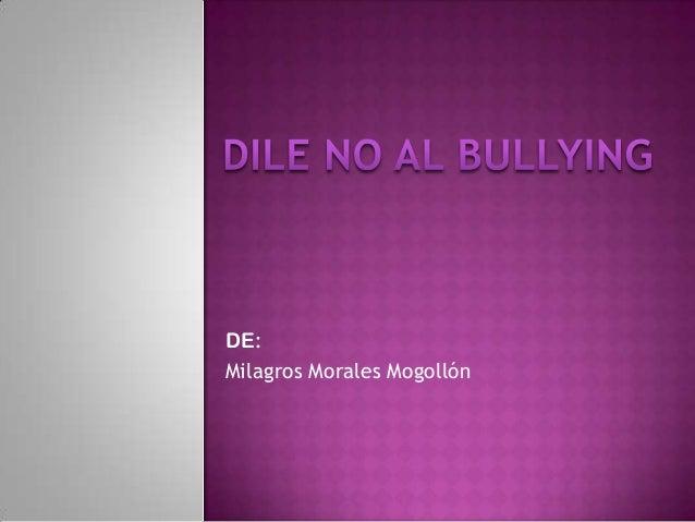 DE: Milagros Morales Mogollón