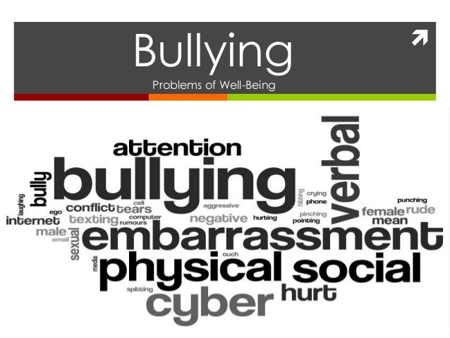  BullyingProblems of Well-Being