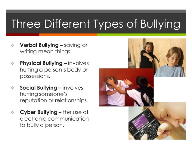 Problems of Well Being - Bullying Slide 3
