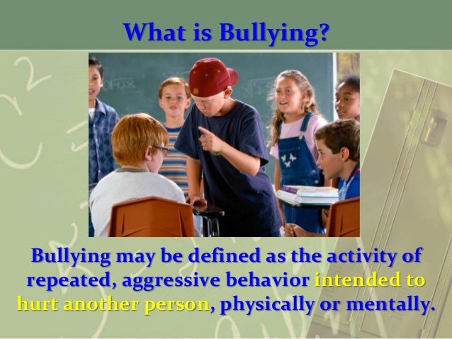 Purpose: Bullying is characterized by an individual behaving in a certain way to gain power over another person.