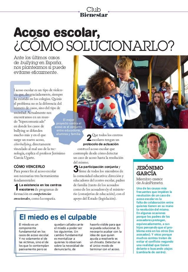 Ante los últimos casos de bullying en España, nos planteamos si puede evitarse eficazmente. Acoso escolar, ¿CÓMO SOLUCIONA...