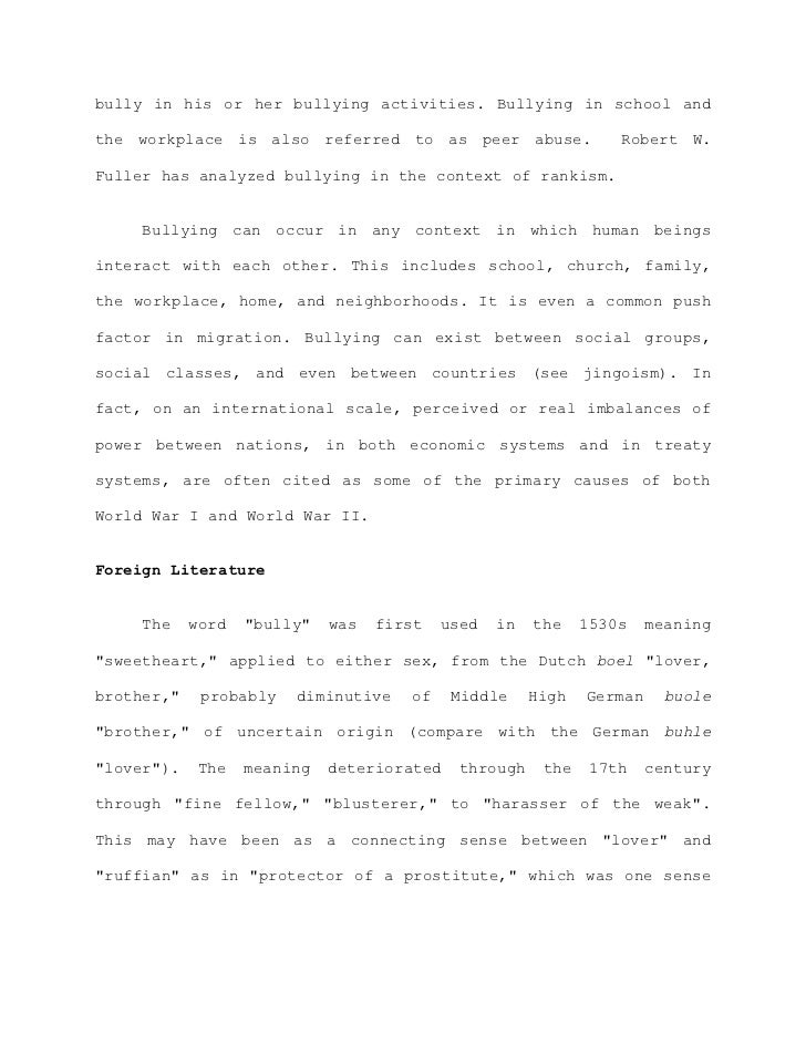 bullying essay thesis bullying thesis bullying thesis ...