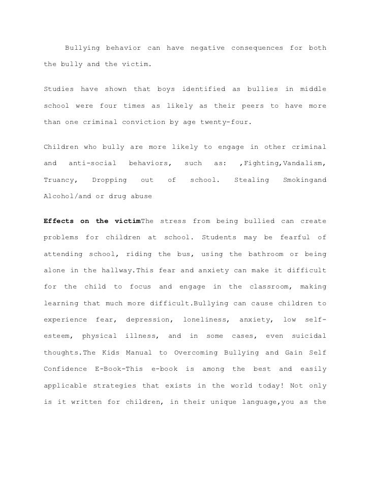 bullying essay thesis bullying thesis bullying essay thesis ...